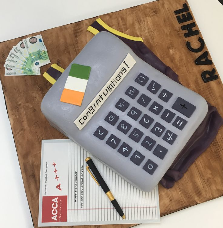 Congratulations on passing your exams.  ACCA Accountancy Exams.  With edible exam paper, pen, money, flag and basketball jersey. The Cake Lab Bakery, Ranelagh, Dublin, Ireland. Artisan Baking Studio.