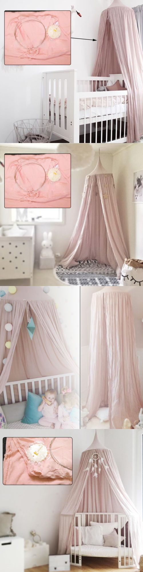 Canopies and Netting 48090: Kids Baby Bedding Round Dome Bed Canopy Netting Bedcover Mosquito Net Curtain -> BUY IT NOW ONLY: $31.69 on eBay!