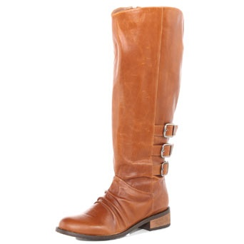 Dorothy Perkins  Tan leather riding boots $35