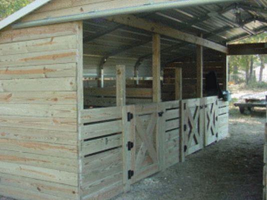 Turn A Carport Into Barn