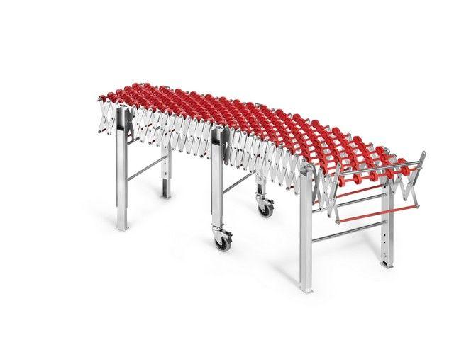 Rulliera estendibile in acciaio inox con ruote (estendibile fino a 3,5 metri)