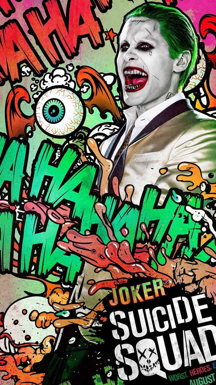 cool suicide-squad-film-poster-art-illustration-joker-iphone6-plus-wallpaper