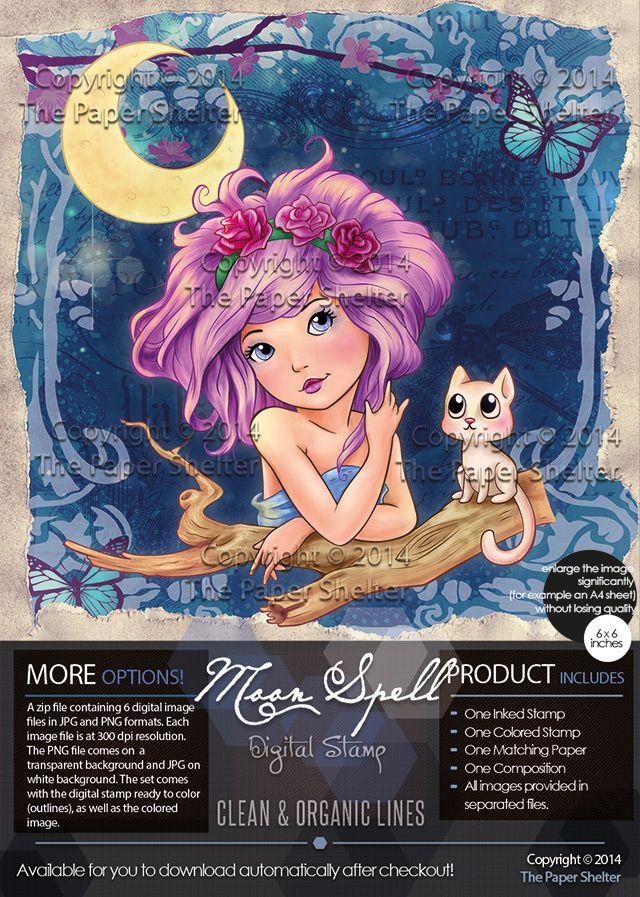 Moon Spell - Digital Stamp