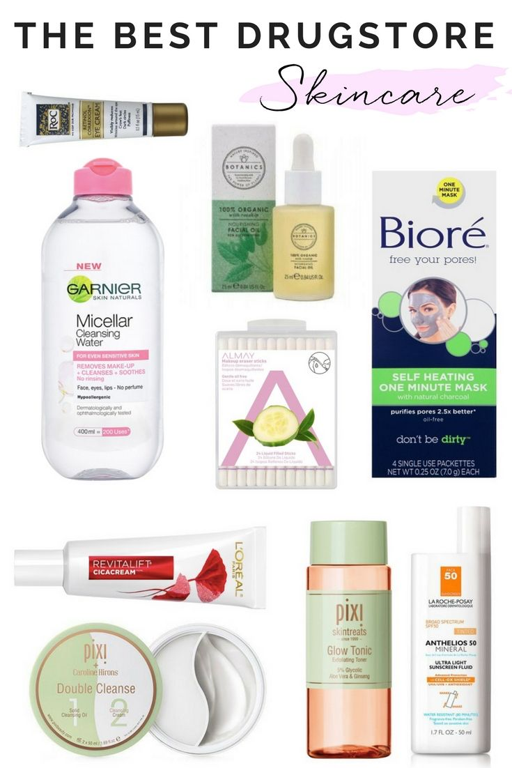 The Best Drugstore Skincare Products Drugstore Skincare Skin