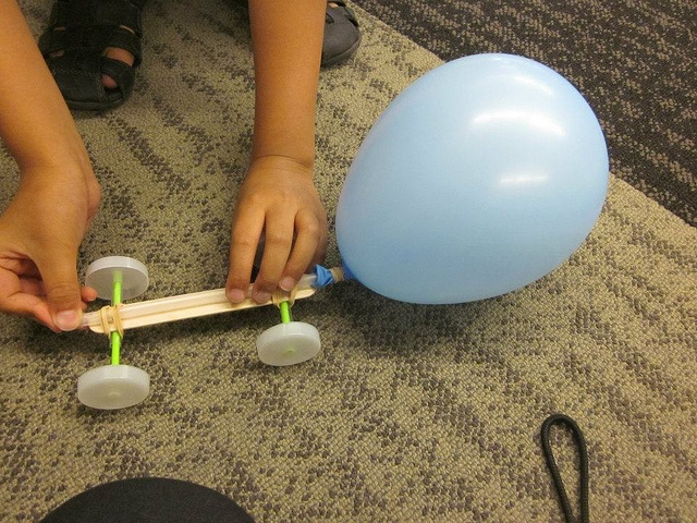 balloon car science project In this fun science experiment, make a balloon car and test it on different surfaces to learn about sliding friction and rolling friction.
