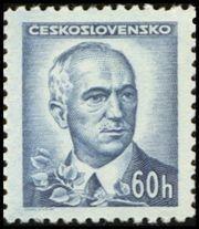 Znaczek: Dr. Edvard Beneš (1884-1948), president (Czechosłowacja) (Portraits) Mi:CS 462,Sn:CS 294,Yt:CS 405,AFA:CS 318,POF:CS 415