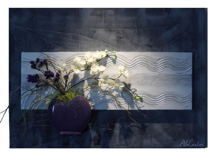 tableau floral gris violet pour un int rieur toujours fleuri tableau mural floral. Black Bedroom Furniture Sets. Home Design Ideas