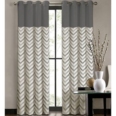 Feature curtains work well in larger rooms.