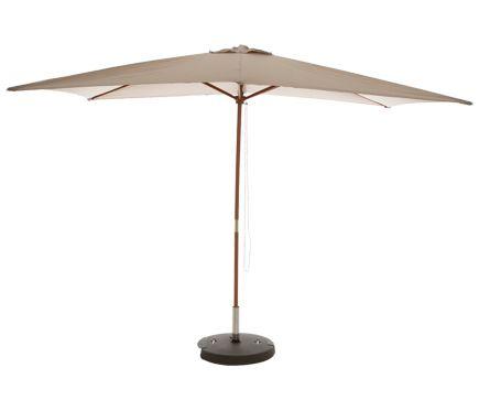 Parasol de madera con toldo de 200x300 cm KALI TOSTADO - Leroy Merlin