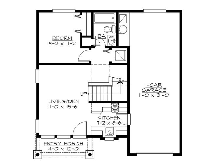 1st Floor Plan Design 035G 0011 the house plan shop SMALL HOUSES