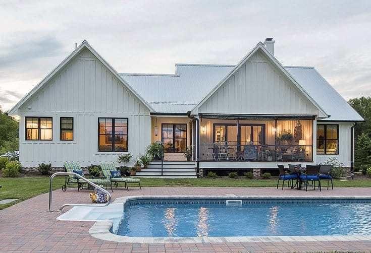Minimalist Ranch House Plan | Maison | Plans de maison de ... on elegant farmhouse plans, traditional farmhouse plans, modern farmhouse plans,