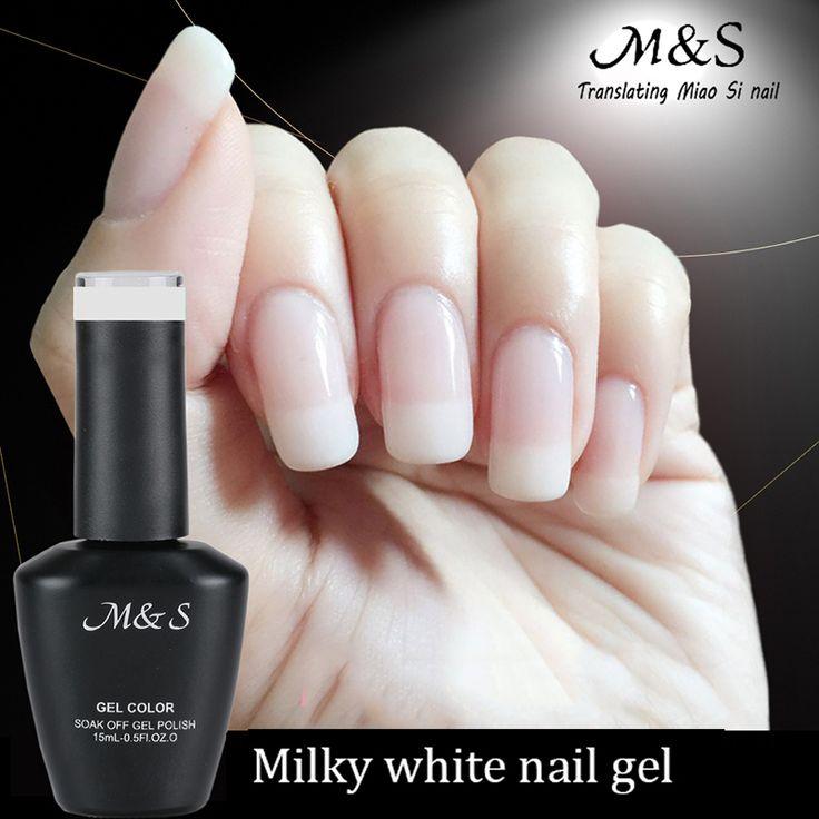 15 ml Charming Milky White Soak Off Nail Gel Gradient Transparent Lady White UV Gel French Ceramic Nail Polish for Winter ZJY027
