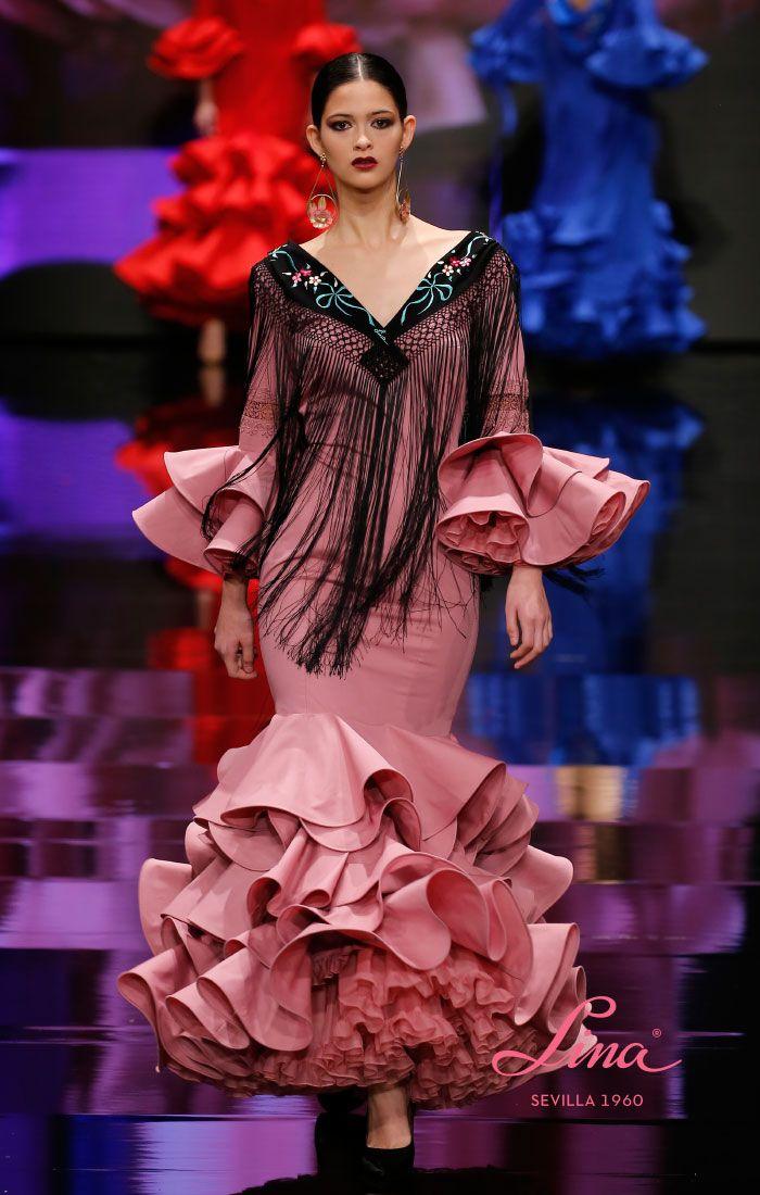 94c4569ea Traje de popelín rosa palo - Lina Sevilla 1960   trajes flamenca ...