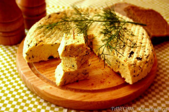 Рецепт домашнего сыра пряного с зеленью