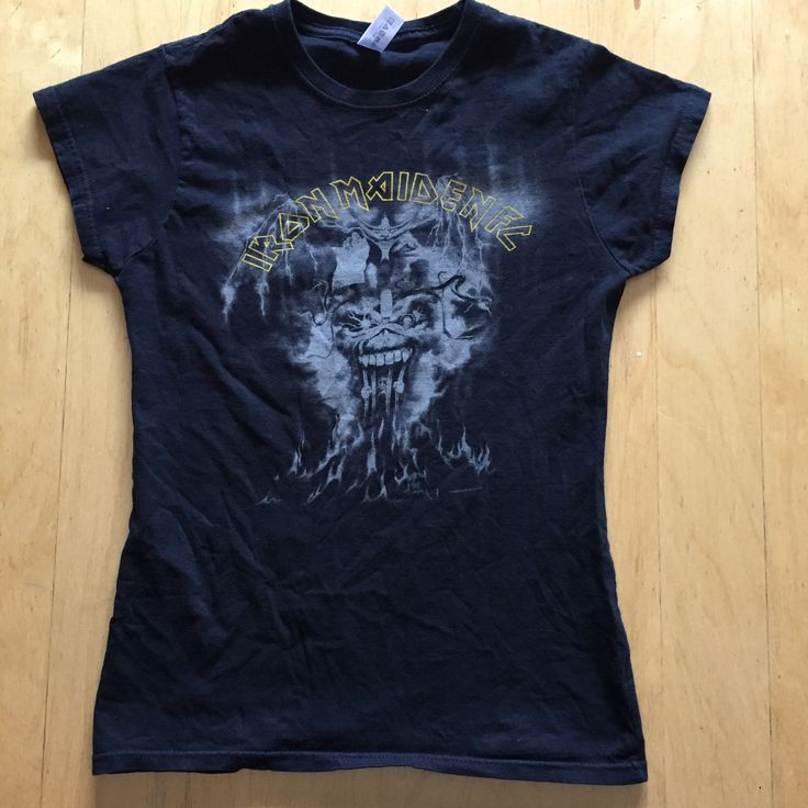 Super Rare Ladies Iron Maiden Fan Club Shirt I haven't seen this shirt anywhere else Gently Pre Loved T-shirt Up The Irons! Size (Ladies - small) No returns on clothing that doesn't fit   #666 #numberofthebeast #hardrock #punk #metal #rocknroll #rocker #80s #brucedickinson #steveharris #adriansmith #powerslave #rocktee #thetrooper #eddie #killers #80smetal #hairmetal #metalbabe #ironmaiden #uptheirons #pauldianno #ironmaidenfanclub