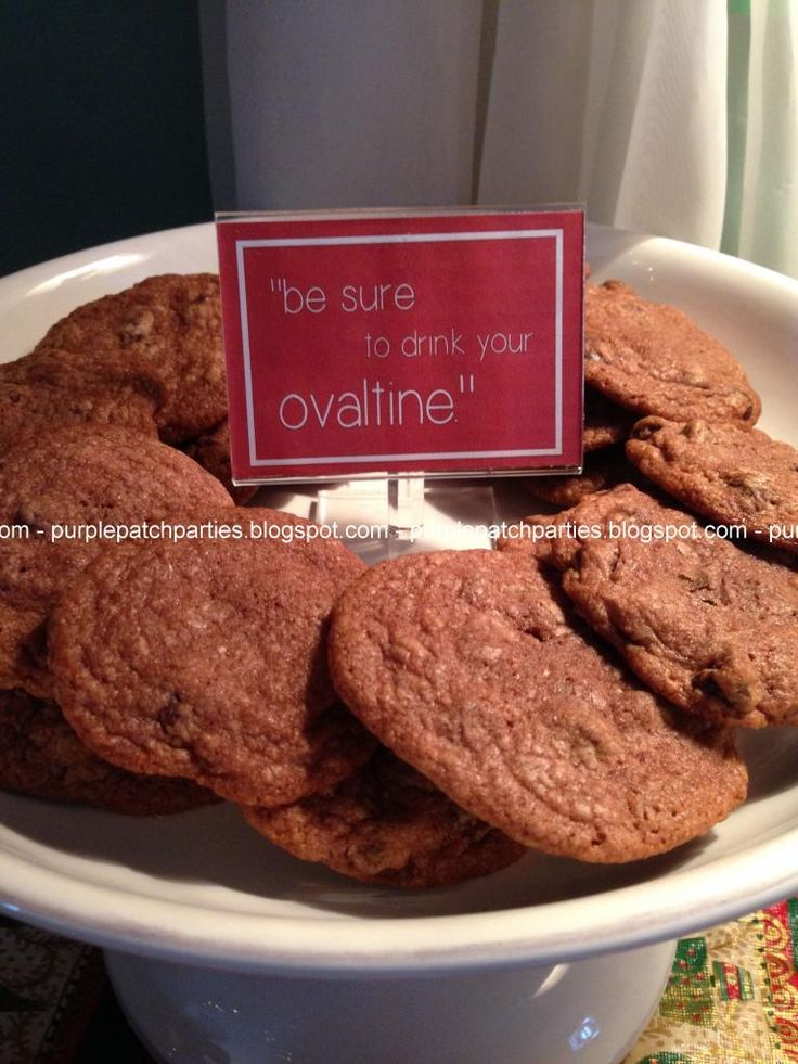 The Purple Patch: A Christmas Story themed Christmas Party - Ovaltine Cookies