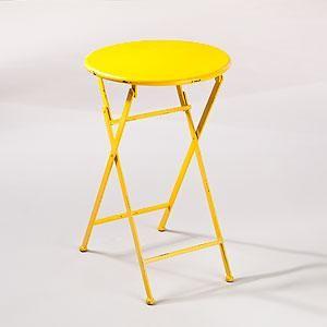 Yellow folding table