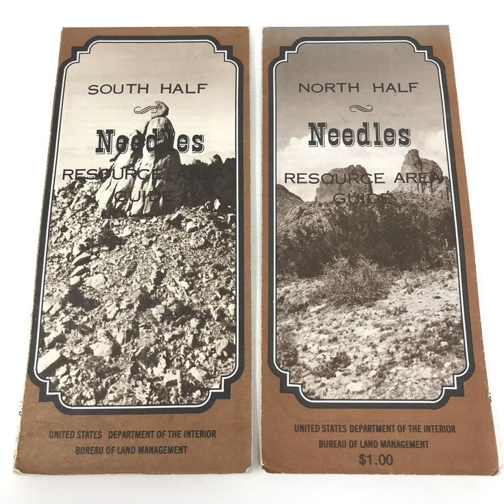California Map Hwy 99%0A Vintage      Needles California Resource Area Guide Maps Dept of Interior