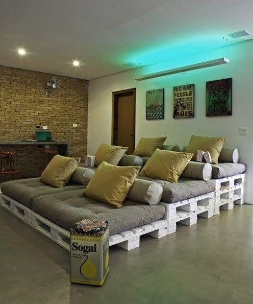such a cool idea for a DIY home theater