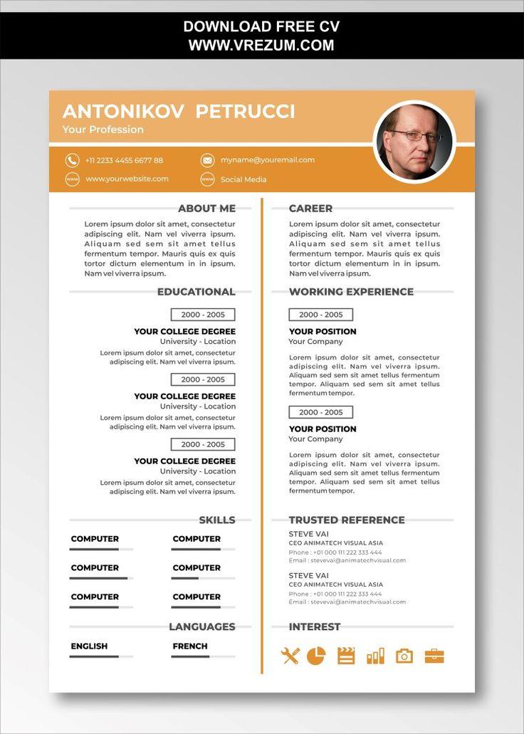 graduate school curriculum vitae template