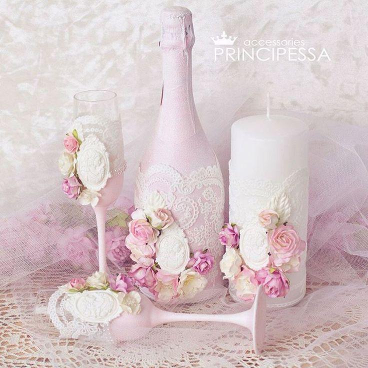 """Свадебный мининабор """"Бледно-розовый"""" В набор входит: большая свадебная свеча, бокалы, и декор бутылки шампанского #инстасвадьба #украшение #цветы #шеббишик #шебби #шкатулка #хобби #хендмейд #ручнаяработа #декупаж #декорсвадеб #свадьба #свадебныйдекор #свадебнаямода #свадебныеаксессуары #свадебныйнабор #подушечкадляколец #weddingaccessories #свадебныесвечи #книгапожеланий #свадебныебокалы #подвязканевесты #свадебныесвечи #пудра #пудровый #розовыйкварц #кварц #розовый #персик"""