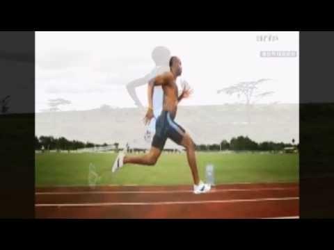 Slow motion comparison of world record marathoner vs 100m sprinter.