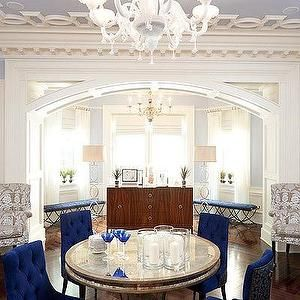 would like some royal blue chairs for the dining room - Luxus Hausrenovierung Perfektes Wohnzimmer Stuhle Design