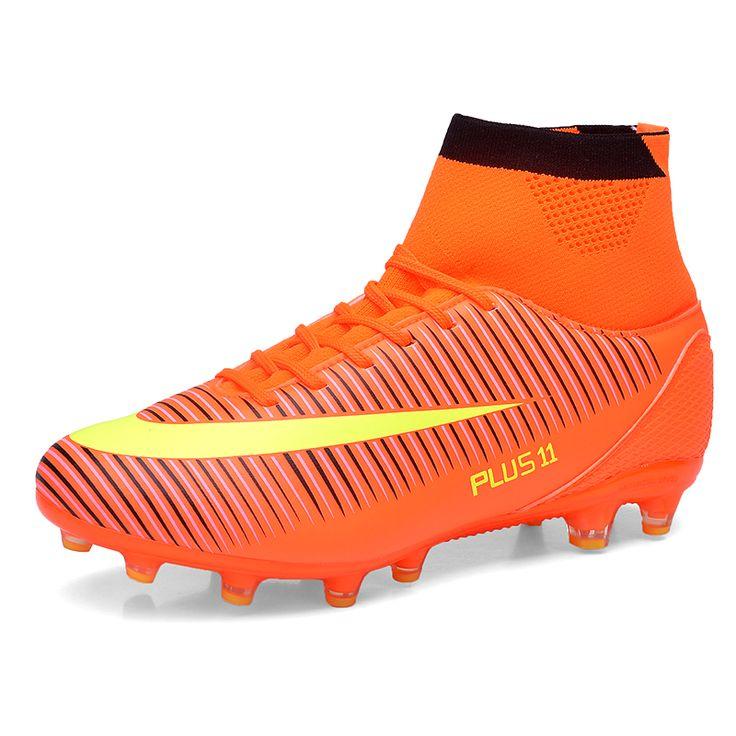Chaussures De Football chaud bottes Unisexe Football crampons Football Bottes chaussures de football en salle pour les enfants adultes de 34-46 taille Train Sneakers