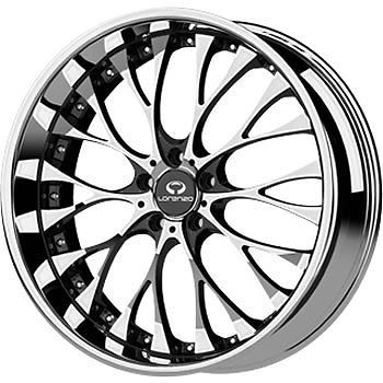 #Lorenzo WL027 19x9.5 5x114.3 &  +40mm Chrome Wheels Rims WL02799512240