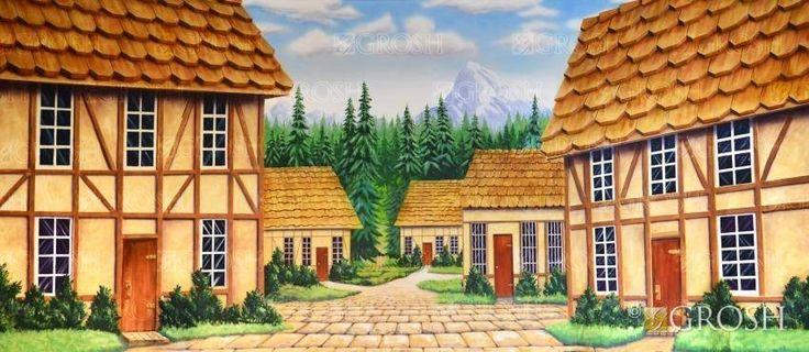 European Village Stage Backdrop