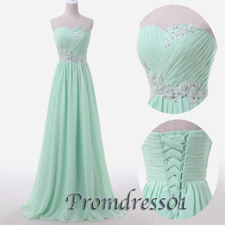 prom dress, prom dress 2015, beaded sweetheart strapless light green long chiffon prom dress for teens #prom2k15 #occasion -> http://sweetheartdress.storenvy.com/products/13166352-light-green-chiffon-sweetheart-floor-length-prom-dress-bridal-dress