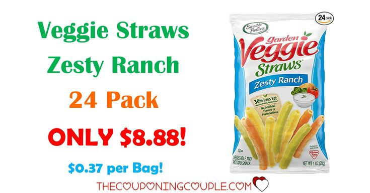 WOW! Get the Sensible Portions Garden Veggie Straws, Zesty Ranch (Pack of 24) for ONLY $8.88 shipped to your door! That is only $0.37 a bag!  Click the link below to get all of the details ► http://www.thecouponingcouple.com/garden-veggie-straws-zesty-ranch/ #Coupons #Couponing #CouponCommunity  Visit us at http://www.thecouponingcouple.com for more great posts!