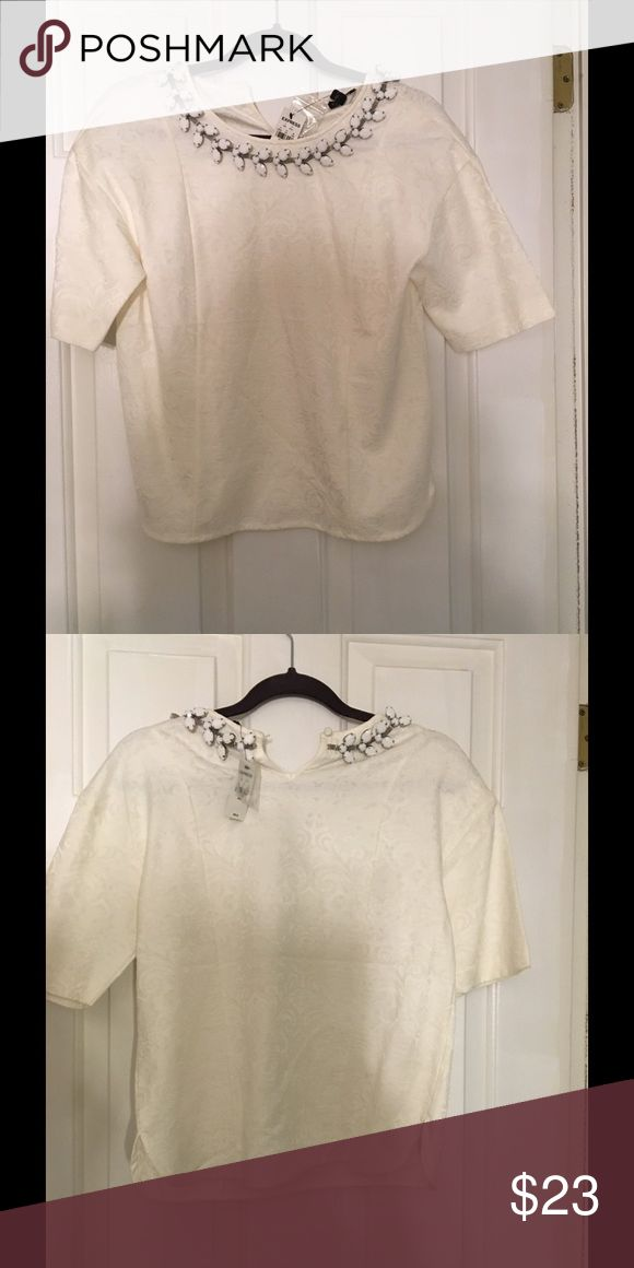 Short top New with tags white short length top Tops