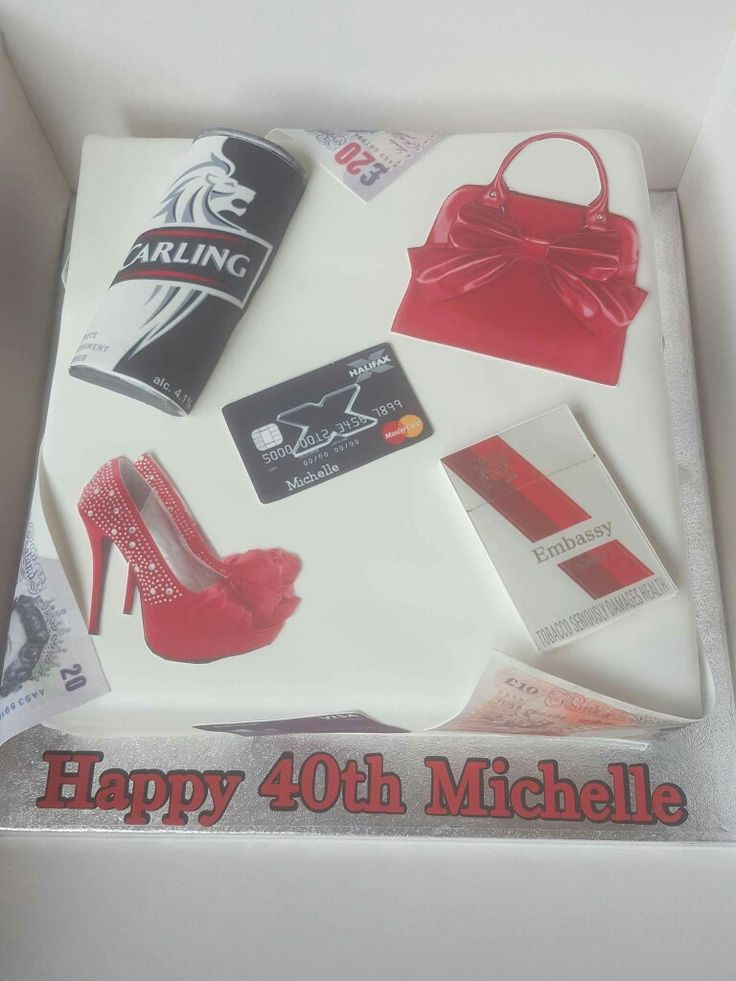 40 th birth  cake