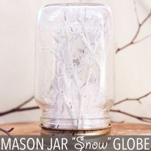 """Mason Jar """"Snow"""" Globe by Of Houses and Trees 