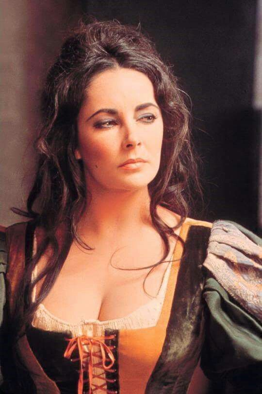 """Elizabeth Taylor in """" The Taming of the Shrew """" 1967. Also producer - uncredited. David Di Donatello Award for Best Foreign Actress (tied with Julie Christie for Dr. Zhivago.) Nominated - Best Actress Award for a Leading Role. Played Katharina."""