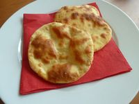 Indický chléb Naan