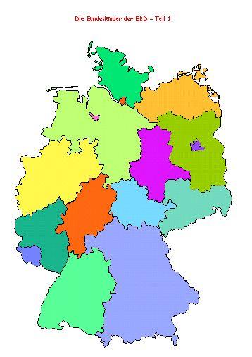 Die Bundesländer der BRD - Aufbautransparent Bild 2
