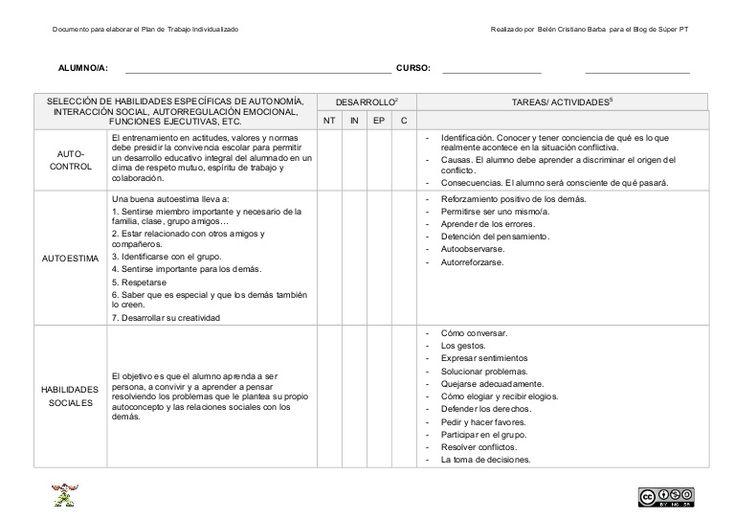 Documento base para elaborar la parte más específica de Pedagogía Terapéutica.