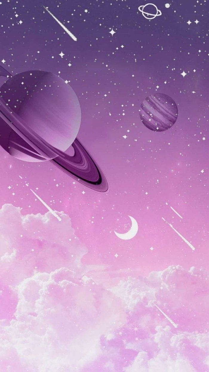 Space Desktop Backgrounds Cartoon Image Of Planets Shooting Stars Clouds In Pink Purple Cool Galaxy Wallpapers Galaxy Wallpaper Galaxy Images