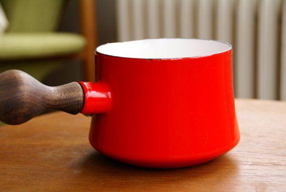 Dansk Kobenstyle Red Enamel Butter Warmer by Larch Trading Company