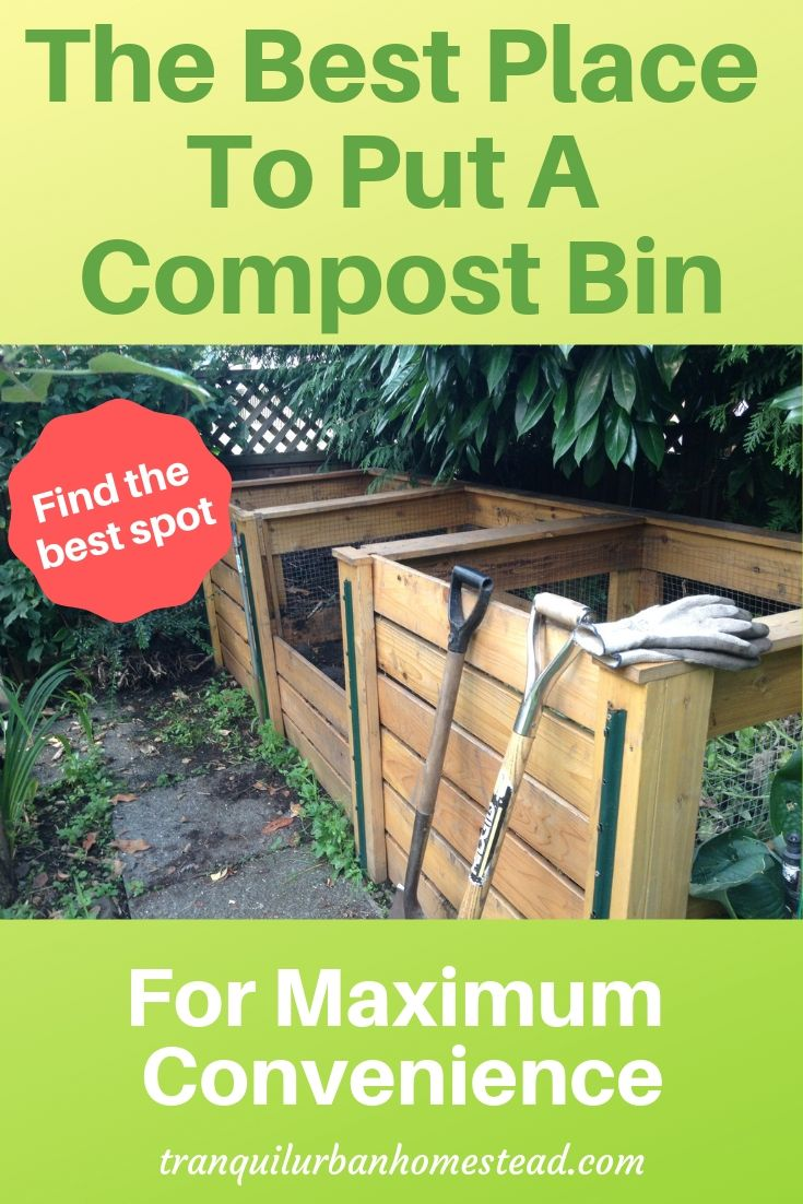 How To Plan Out The Best Place To Put A Compost Bin Compost Bin