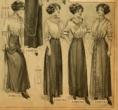 84a4d5c90da Women s Titanic Fashion -Second and Third Class