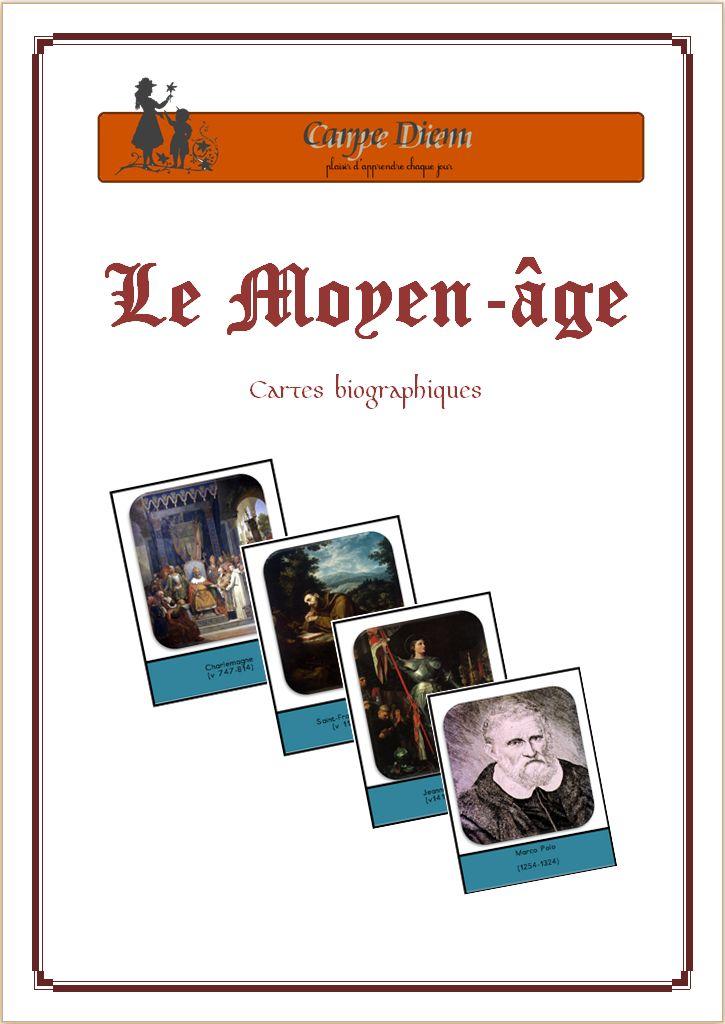 Cartes nomenclatures gratuites Moyen-âge