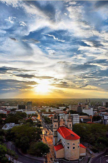 Teresina ao por-do-sol. Vista A partir da Igreja São Benedito.    (Teresina at the sunshine) BRAZIL