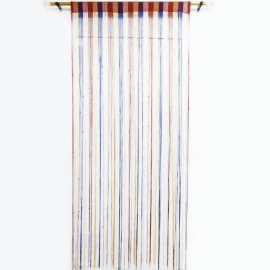 Multicolor Fringed Wall / Door Valance Drape Door Voile Decorative Curtain India
