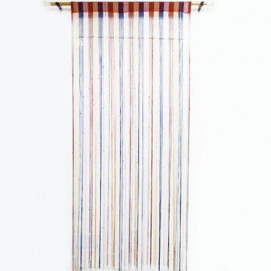Multicolor Fringed Wall / Door Valance Drape Door Voile Decorative Curtain India
