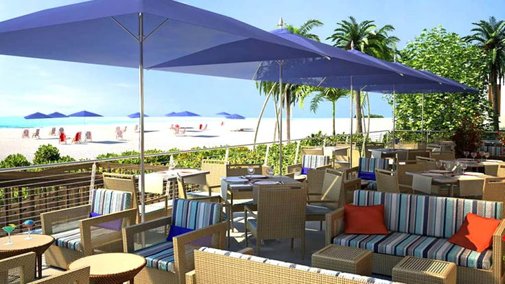 Outdoor Patio Furniture Design of Sea Level Restaurant and Ocean bar, Fort Lauderdale