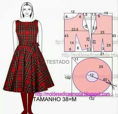 Cartamodello abito scozzese