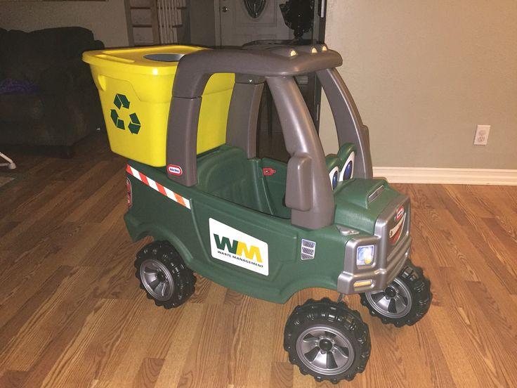 Garbage Truck Power Wheels : Trash truck ride on garbage toy little